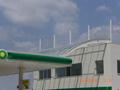BP Benzin İstasyonu Solid Polikarbon Çatı Uygulaması Denizli (Koruca Petrol)